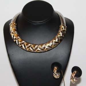 Signed ALEXIS KIRK Silver  Collar Set SD4